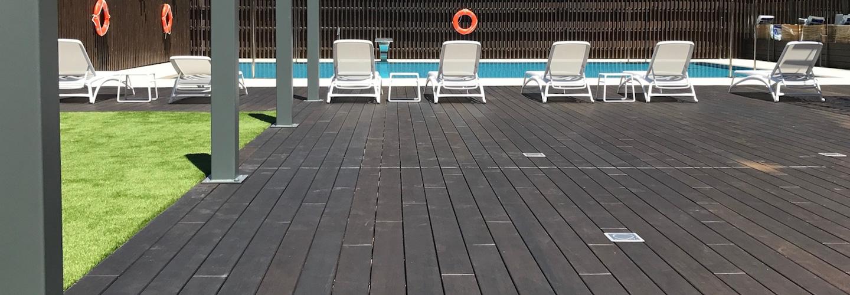 ambooo Terrassendiele aus Bambus kaufen - Diele Santos, Farbton espresso, Profil (glatt/ französisch)