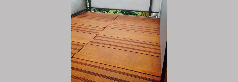 ambooo Terrassenfliese aus Bambus kaufen - Fliese MEGA DECK, Farbton coffee, Profil (glatt/ französisch)