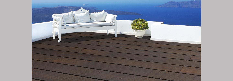 Terrassendielen aus Bambus