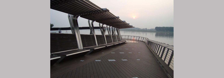 ambooo Terrassendielen aus Bambus kaufen - Diele Elegance, Farbton espresso, Profil (geriffelt / genutet)