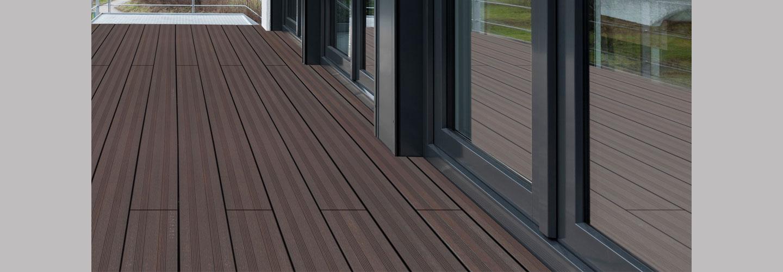 ambooo Terrassendiele aus Bambus kaufen - Diele Vintage, Farbton granite grey, Profil (glatt / französisch)