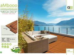 ambooo Terrassendiele aus Bambus kaufen - MEGA DECK, coffee