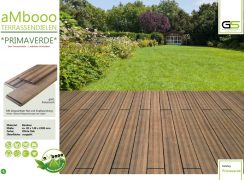 ambooo Terrassendiele aus Bambus kaufen - Diele Primaverde, white oak