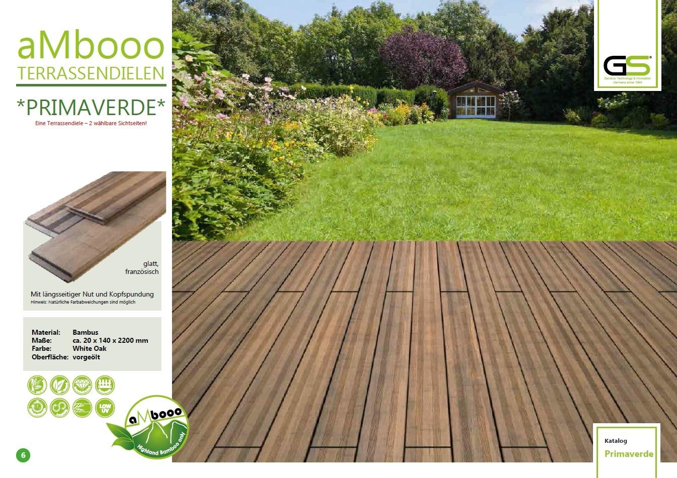 Produktmerkmale und Vorteile von aMbooo Terrassendielen und ...