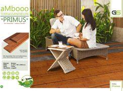 ambooo Terrassendiele aus Bambus kaufen - Diele Primus, coffee