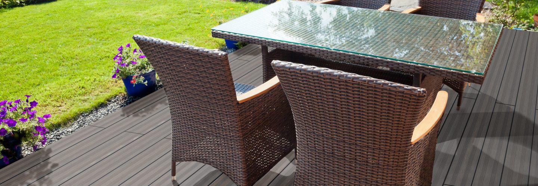 Terrassendiele aus Bambus Vintage
